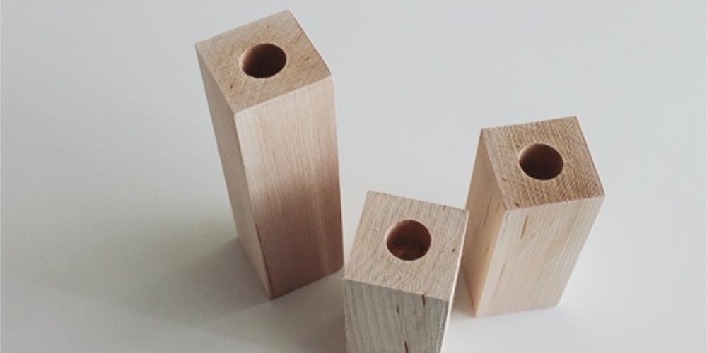 деревянный подствечник