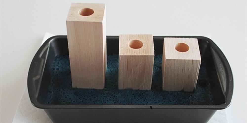 деревянные украшения на стол