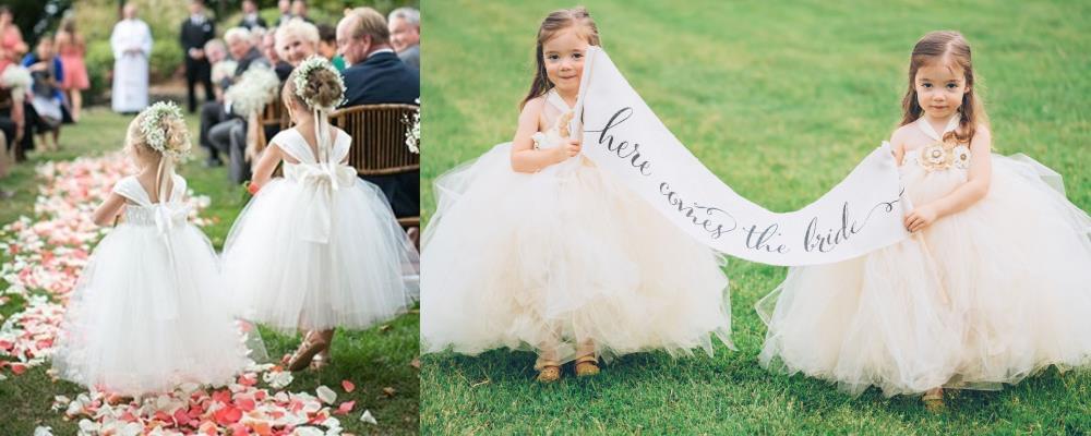 дети с цветами на свадьбе