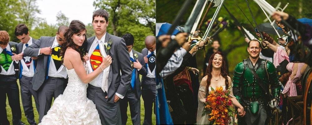 оригинальное свадебное образы