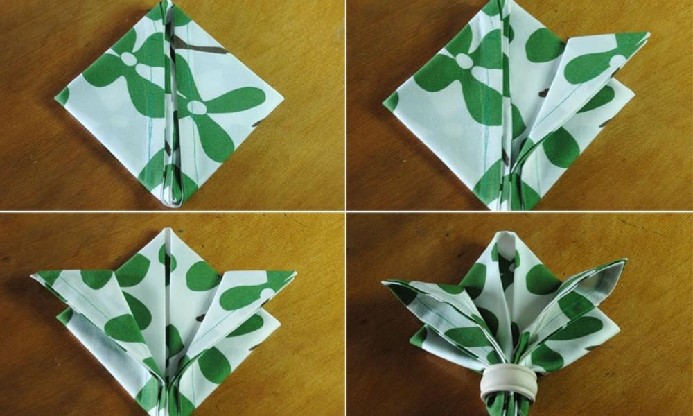сделать лилию из салфетки
