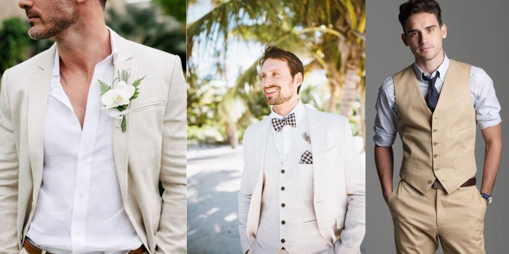 жених на летней свадьбе